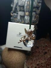 Very Rare African Amr Black Angel Swarovski Crystal Figurine Christmas Ornaments