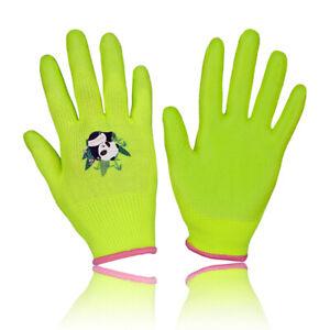 Kids Gardening Gloves for Age 2-13 Childrens Garden Gloves Nitrile Coated Gloves