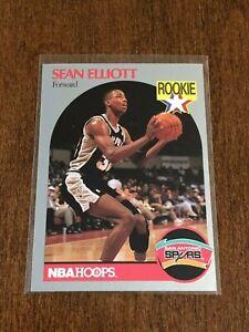 1990-91 Hoops Basketball Rookie - Sean Elliott RC - San Antonio Spurs