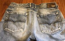Men's Diesel Distressed Destroyed Ripped Button Fly Jeans Made Italy W34 L32