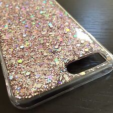 For iPhone 7+ 8+ Plus - HARD TPU RUBBER GEL CASE COVER PINK SHINY GLITTER SEQUIN