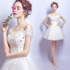 New Evening Formal Party Ball Gown Prom Bridesmaid Beaded Short Dress TSJY2553