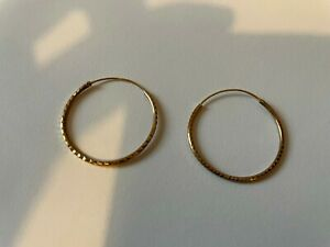 BIJOU BRIGITTE Ohrringe Creole vergoldet in Silber 2,5 cm Durchmesser Ohrstecker