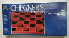 Vtg Mb Checkers & 5 Other Games * New In Sealed Box