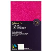 Sainsbury's Darjeeling Tea Bags, Taste the Difference x50