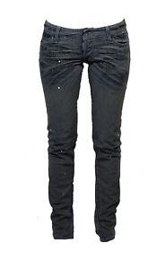 DSQUARED² Damen Stretch Jeans skinny grau +metallic Effekt ital. Gr. 40 NEU