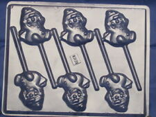 Snowman Chocolate Lollipop Candy Mold 1241 Soap Candy Party Favor Christmas
