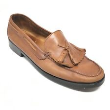 Women's Bass Weejuns Marietta II Loafers Shoes Size 11 M Brown Leather Kiltie V4