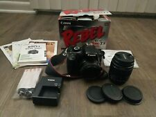Canon Digital EOS Rebel T3, 2 Lenses, Wall Charger, Batteries, Original Box