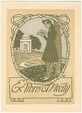 JOSEF WENIG: Exlibris für A. Plecity, 1909