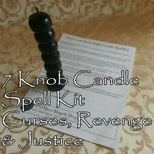 Seven Knob Voodoo Candle Curse Spell Kit Cursing Revenge Justice Punish Hex