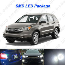8x Ultra White LED Interior Bulb + License Plate Light for 2007-2011 Honda CR-V