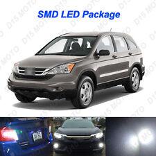 8x Ultra White LED Interior Bulb + License Plate Light for 2007-2011 Honda CR-V