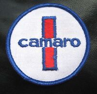 """CAMARO EMBROIDERED SEW ON PATCH AUTOMOBILE CAR CHEVY CHEVROLET 3"""" ROUND"""