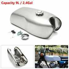 Universal 9L / 2.4 Gallon Custom Cafe Racer Gas Fuel Tank for BMW Honda Yamaha