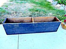 Centerpiece Primitive Farmhouse Carpenter's Tool Box Wood Vintage Antique Black
