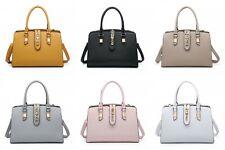 Ladies Women Multi Pocket Compartment Handbag Office Work Organizer Shoulder Bag
