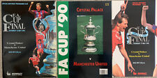 More details for crystal palace v manchester united fa cup final & replay 1990 & brochure