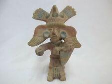 South American Terracotta Clay Native Pottery Medicine Man w/Shield