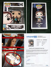 "Rare ANGELINA JOLIE signed ""LAURA CROFT"" FUNKO - EXACT PROOF - Tomb Raider ACOA"