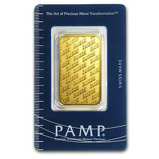 1 oz Pamp Suisse Gold Bar - New Design - In Assay - SKU #84698