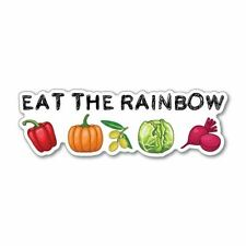Eat The Rainbow Sticker Decal Vegan Plant Vegetarian Food Laptop Planet