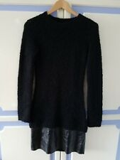 Ted Baker Knitted Dress with Real Leather Skirt decoration, size 1 or UK8 - VGC