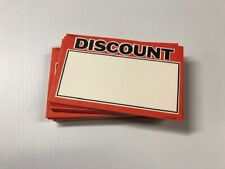 500 Lot Discount Price Signs Display Case Shelf Signs Tags Retail Store35x55