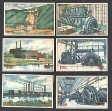 Electricity Generation Erdal Rare Card Set 1928 Power Plant Hydro Turbine Engine