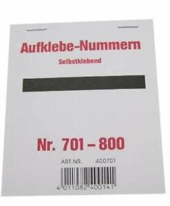 Wolf & Appenzeller 400701 - Gewinnaufklebe-Nummern  701-800, selbstklebend