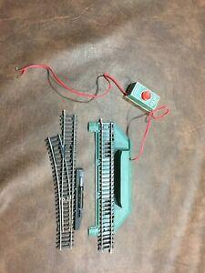 TYCO HO Train remote control Log Dump Car Set & Manual Left Switch. - NO BOX