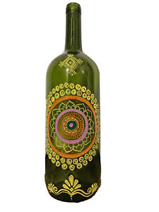 painted glass bottle, Home Decor, Glass Painting, New