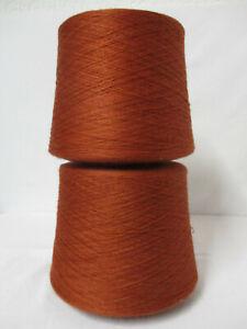 "Wolle Kone""Neu-Räumung-Yarn"" 2,15Kg 9€/Kg ""rost""Baumwolle-PAN Nm 32/2"