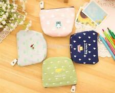 Women Mini Small Soft Canvas Bag/Pouch/Wallet/Coin/Key Bag/Purse /Zipper Bag AUU