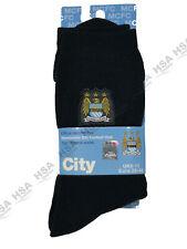 Manchester City FC, Térmico Calcetines De Invierno, Negro UK 6-11, Regalo de Cumpleaños/Fútbol Fan