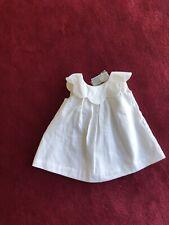 Jacadi White sleeveless Dress,with Scallop Collar .6 months BNWT
