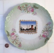 Antique FREMONT NEBRASKA RAILROAD Train DEPOT Plate WHEELOCK China Austria