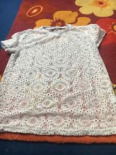 Primark Atmosphere White Lace Style Top. Size 8. Work Office