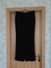 "Marks & Spencer black stripe smart work trousers UK 12M vgc IL 30.5"""