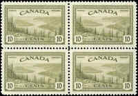 Canada Mint NH VF Scott #269 1946 Block 10c Peace Issue Stamps
