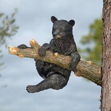 Black Bear Cub Wildlife Statue Garden Statuary Sculpture Outdoor Tree Home Decor