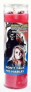 CANDLE COCKTAIL AROMATIC HOLY DEATH DON'T TALK- SANTA MUERTE HABLES