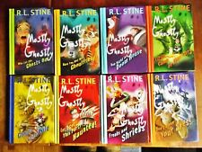 8 COMPLETE SET 1-8 GOOSEBUMPS MOSTLY GHOSTLY HARDCOVER BOOKS BY RL STINE