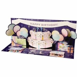 Panoramics Pop-Up Greeting Card by Up With Pape - Ballon & Cake EXPLOSION