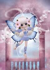 Dancing Fairy Birthday Card for women and girls divine in lilac & pink