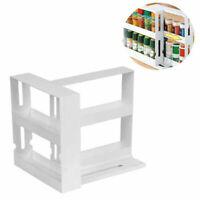 Multi-Function Storage Rack Rotating Kitchen Organizer Jars Spice Holder Shelf