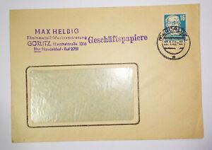 Publicité Lettre 1952 Max Helbig Rheinmetall Görlitz ! (B1