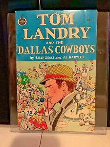 VIntage Tom Landry and The Dallas Cowboys Spire Christian Comic Book 1973