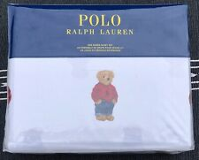 Polo Ralph Lauren Polo Teddy Bear Polo Bear 4 PC Queen Sheet Set Cotton New