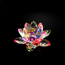 LARGE CRYSTAL CUT MULTI LOTUS FLOWER ORNAMENT WITH GIFT BOX FOR CHRISTMAS XMAS_U